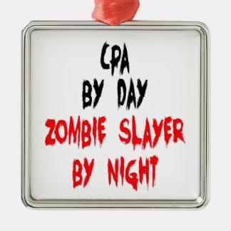 Zombie Slayer CPA Metal Ornament