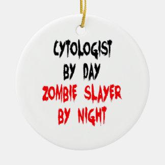 Zombie Slayer Cytologist Ceramic Ornament