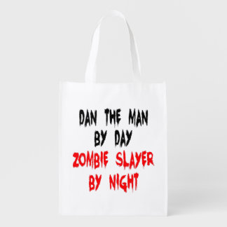 Zombie Slayer Dan the Man Grocery Bag