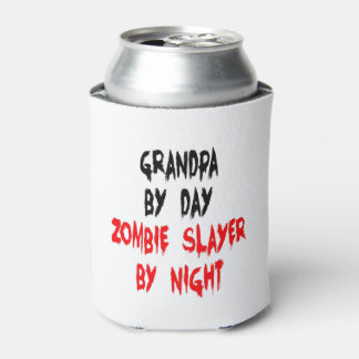 Zombie Slayer Grandpa Can Cooler