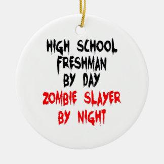 Zombie Slayer High School Freshman Round Ceramic Decoration