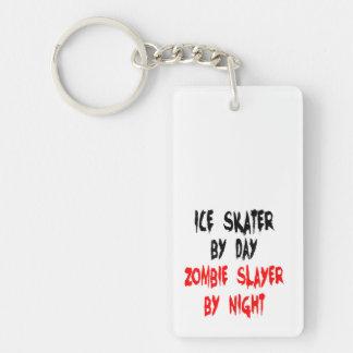 Zombie Slayer Ice Skater Double-Sided Rectangular Acrylic Key Ring