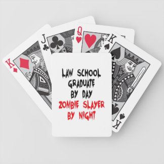 Zombie Slayer Law School Graduate Bicycle Playing Cards