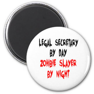 Zombie Slayer Legal Secretary Magnet