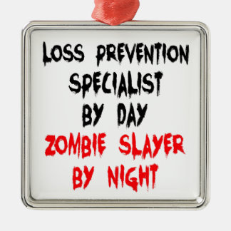 Zombie Slayer Loss Prevention Specialist Metal Ornament