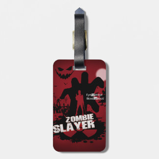 Zombie Slayer Luggage Tag