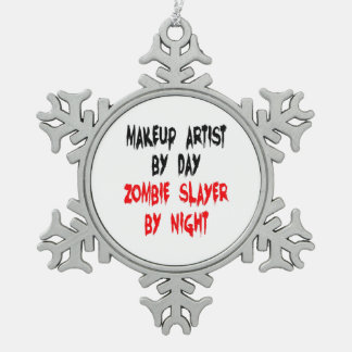 Zombie Slayer Makeup Artist Pewter Snowflake Decoration