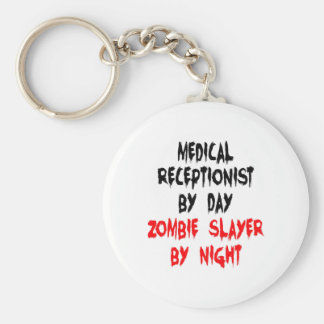 Zombie Slayer Medical Receptionist Basic Round Button Key Ring