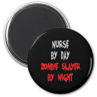 Zombie Slayer Nurse Magnet