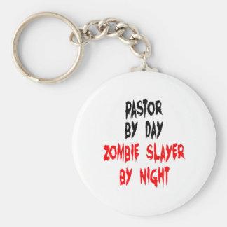 Zombie Slayer Pastor Key Ring
