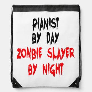 Zombie Slayer Pianist Drawstring Bag