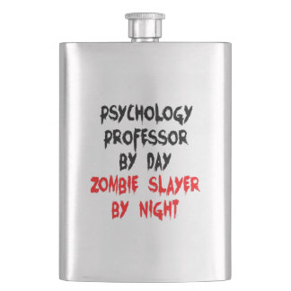 Zombie Slayer Psychology Professor Hip Flask