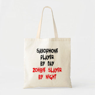 Zombie Slayer Saxophone Player Budget Tote Bag