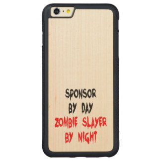 Zombie Slayer Sponsor Carved Maple iPhone 6 Plus Bumper Case