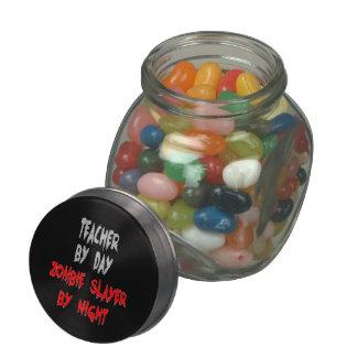 Zombie Slayer Teacher Glass Jar