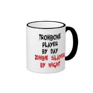 Zombie Slayer Trombone Player Ringer Mug