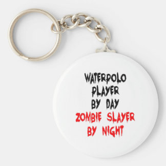 Zombie Slayer Waterpolo Player Basic Round Button Keychain