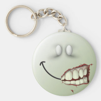 Zombie Smiley Face Keychain
