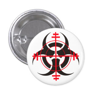 Zombie Sniper Pinback Buttons