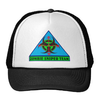 Zombie Sniper Team (Blue background) Hat