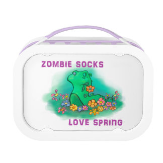 Zombie Socks love spring Lunchboxes