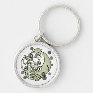 Zombie Squid Keychain