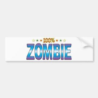 Zombie Star Tag v2 Bumper Sticker
