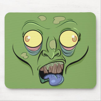 Zombie Sticking Out it's Tongue Mousepads