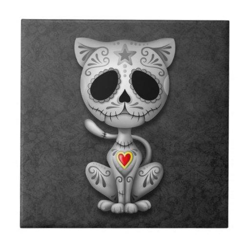 Zombie Sugar Kitten, dark Tile