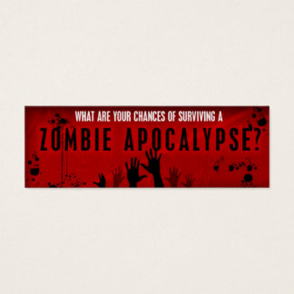 Zombie survival card
