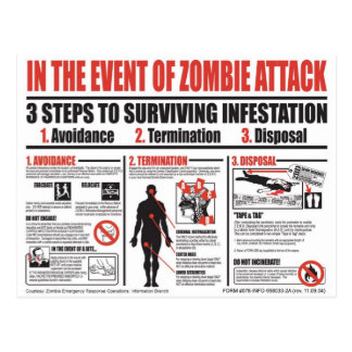 Zombie Survival Guide - Beyond These Walls Postcard