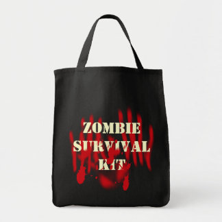 Zombie Survival Kit Grocery Tote Bag