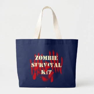 Zombie Survival Kit Large Tote Bag