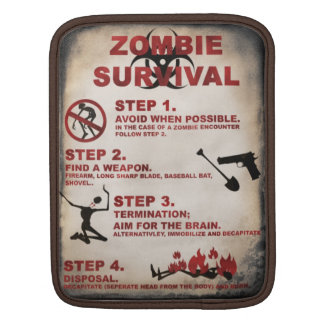 Zombie survival list iPad sleeve