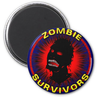 Zombie Survivors Icon Flair Fridge Magnets