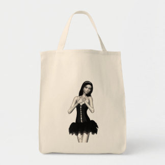 Zombie Suzy 1 - Halloween Doll Grocery Tote Bag