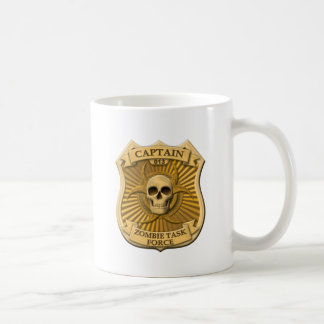 Zombie Task Force - Captain Badge Classic White Coffee Mug