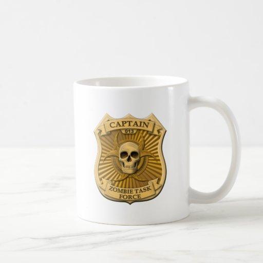 Zombie Task Force - Captain Badge Coffee Mugs