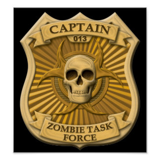 Zombie Task Force - Captain Badge Print