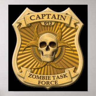 Zombie Task Force - Captain Badge Print