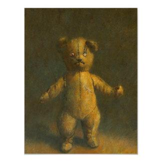 Zombie Teddy Bear Halloween Invite
