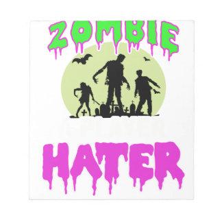 Zombie tee notepad