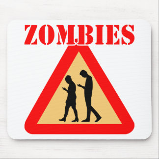 Zombie Teens With Cell Phones Mouse Pad