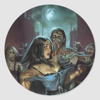 ZOMBIE TERRORS STICKER BY ALY FELL
