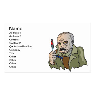 Zombie Time Pack Of Standard Business Cards