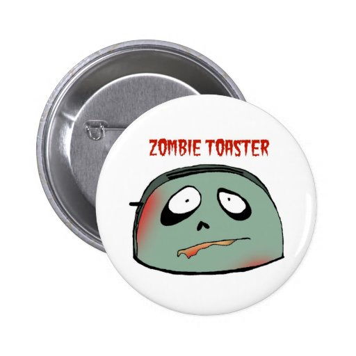 Zombie toaster pin