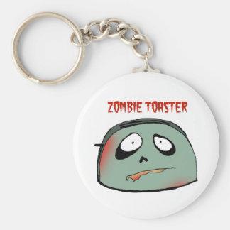 Zombie toaster keychain