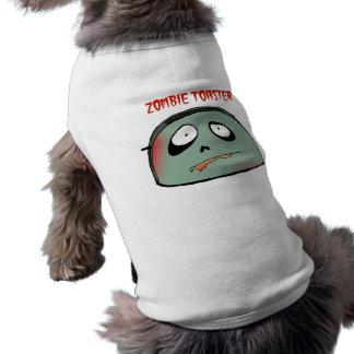 Zombie toaster sleeveless dog shirt