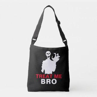 Zombie Treat Me Bro funny Halloween customizable Crossbody Bag