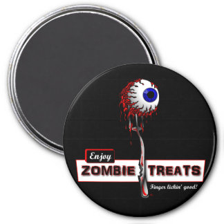 Zombie Treats 1 Stickers & Buttons 7.5 Cm Round Magnet